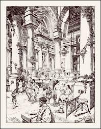 roy krenkel ancient baths storytelling art pinterest