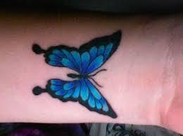 beautiful dark and black butterfly wrist tattoo picture jpg