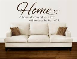 a home decorated with love vinyl decal wall stickers letters words