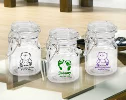 favor jars shower imprinted glass favor jars with snap lid
