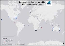World Wide Map Yearly Worldwide Shark Attack Summary U2013 International Shark Attack