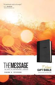 gift bibles tyndale the message deluxe gift bible