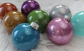 no mess handmade glitter ornaments with mop glo hometalk