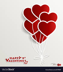 heart balloons heart balloons for valentines day royalty free vector