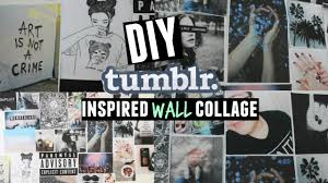 Picture Wall Collage by Diy Inspired Wall Collage Youtube