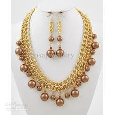 gold beaded necklace set images New arrive christmas gift jewelry victorian steampunk gold brown jpg