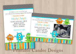 baby shower invitations little monster baby shower invitations