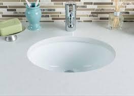 Oval Bathroom Sinks Small Undermount Bathroom Sink With Oval Ceramic Shape Design