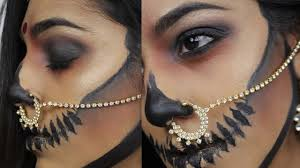 Indian Halloween Makeup Bad Beti Halloween Tutoriall I Indian Skull Makeup I