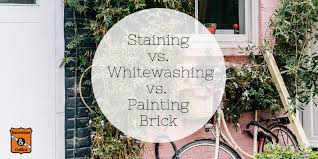 is it better to paint or stain your kitchen cabinets staining whitewashing or painting brick