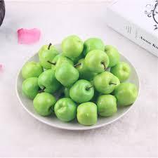 50 pcs artificial fruits miniature apples crafts 3 5cm wedding