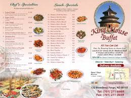 Buffet King Prices by King House Buffet Home Fargo North Dakota Menu Prices