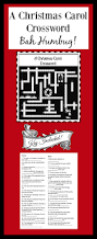 a christmas carol crossword puzzle crossword teaching and christmas