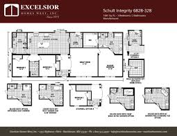 schult modular home floor plans schult integrity 6828 328 excelsior homes west inc