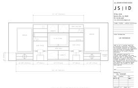 la crescenta ca residence family room media cabinet detailed