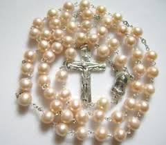 pearl rosary sterling 925 silver aaa8 9mm real pearl rosary necklace cross