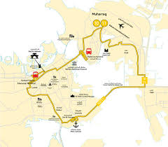 Qatar Route Map by 10 11 Bahrain Public Transport Company