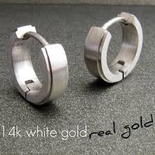 white gold huggie earrings 38 white earrings for guys 3 carat white diamond manmade