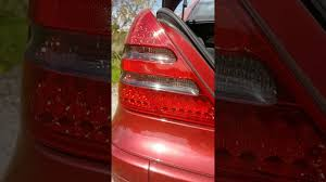 mercedes light replacement mercedes slk r170 rear led lights removal replacement upgrade