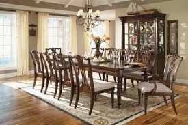 french country cottage dining room round brown varnished wooden