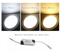 Led White Light Bulbs by 18w Bright Led Recessed Ceiling Panel Down Light Bulb Lamp Cool