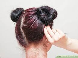 hair buns for hair 3 ways to do space buns wikihow