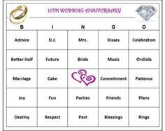 wedding words for bingo 50th anniversary party bingo way to celebrate a lifetime