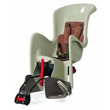 siege velo polisport bilby siège de vélo arrière inclinable pour enfant crème marron