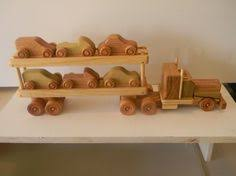 Build Big Wooden Toy Trucks by Wood Toy Train 3 Cars All Natural Wooden Toys By Nwtoycrafters