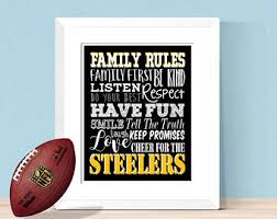 steelers home decor steelers decor etsy