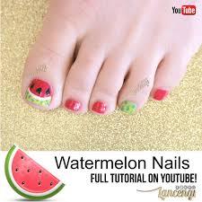 lancengi watermelon nail art designs for toes national