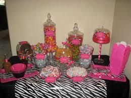 Pink And White Candy Buffet by Pink U0026 Zebra Print Candy Buffet Wedding Black Candy Diy Pink