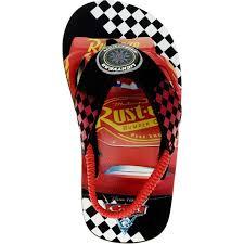 disney cars boy toddler flip flops size small 5 6 kids casual
