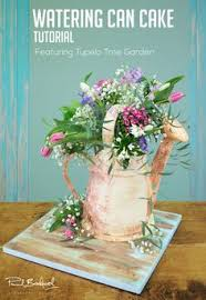 watering can cake cake by mina bakalova flowers and cake