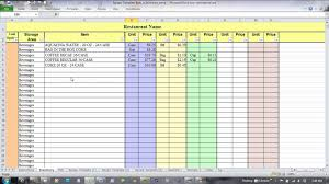 Excel Costing Template Excel For Recipe Costing And Inventory Linking