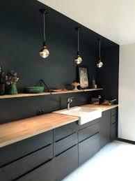 meuble de cuisine noir meuble cuisine noir ikea noir et bois la chaleur et le design