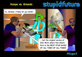 Han Shot First Meme - han shot first stupidfuture obscure sci fi parodies