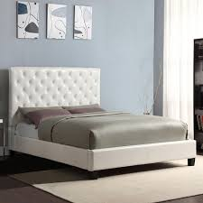 modern diamond button tufted faux leather upholstered padded