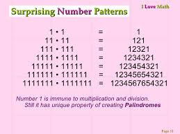 pattern with palindromic numbers math e magic