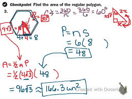areas of regular polygons worksheet worksheets reviewrevitol