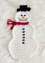 crochet snowman towel topper free pattern from dragonflymomof2