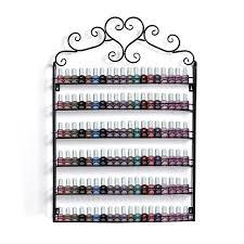 6 tier nail polish organization rack wall mount nail polish holder