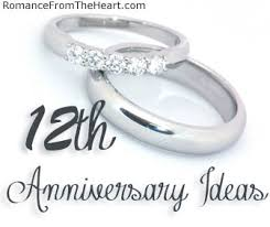 12th anniversary gift ideas 12th anniversary ideas romancefromtheheart