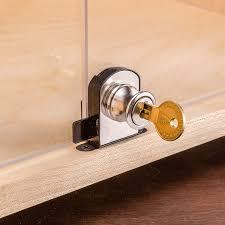 Kitchen Cabinet Door Locks Glass Door Deadbolt Lock Solid Smooth Stays In