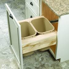 under sink trash pull out decoration double kitchen bin rolling kitchen trash bin trash can