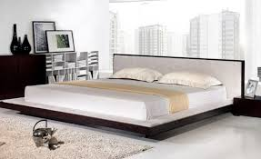 bed alluring king size platform bed with upholstered headboard