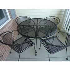 Metal Mesh Patio Table Black Metal Mesh Garden Furniture Dayri Me