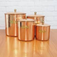 copper kitchen canisters vintage benjamin and medwin copper from firefly vintage home
