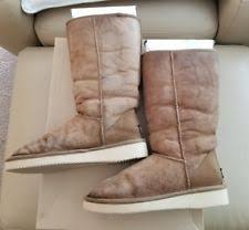 ugg s mammoth boots ugg australia mammoth seude chestnut knee boots 1008812 size 8 ebay