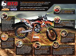 factory motocross bikes parts on the bto ktm team bike btosports